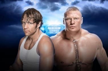 Dean Ambrose takes on Brock Lesnar (Credit: WWE.com)