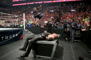 Taker and Shane kick off Raw (credit: WWE.com)