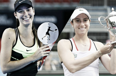 Oceane Dodin (left) and Christina McHale (right) picked up their first career titles at the Coupe Banque Nationale and Hashimoto Sogyo Japan Women's Open Tennis respectively. Photo credits: Dodin (Coupe Banque Nationale) and McHale (Akira Ando).
