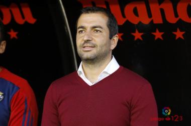 Diego Martínez, en su etapa en Osasuna. Foto: La Liga