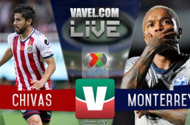 Resultado y goles del Rayados 2 - 4 Chivas en Liga MX 2018