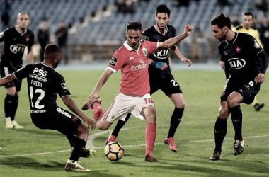 Jonas fue héroe y villano en el derbi lisboeta | Foto: SL Benfica