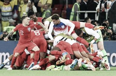 Festejo en el triunfo inglés | Foto: FIFA