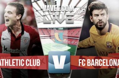 Resultado Athletic de Bilbao - FC Barcelona en la Supercopa de España 2015 (4-0)