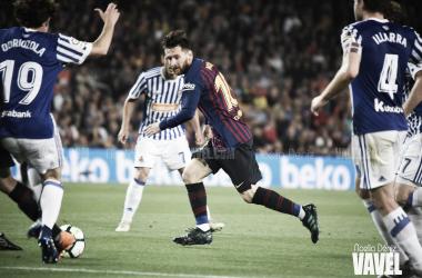 Leo Messi ante la Real Sociedad | Fuente: Noelia Déniz (VAVEL)