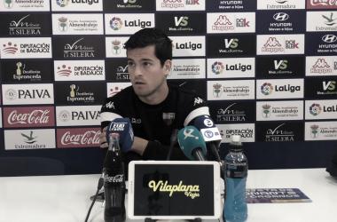 Roberto Olabe en sala de prensa // Imagen: Extremadura UD