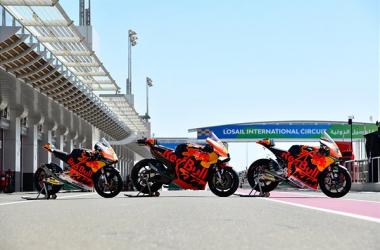 Las motos de Ktm en el mundial./ Foto:press.ktm.com