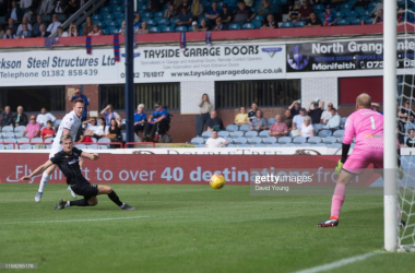 Danny Johnson scores for Dundee in their win over Inverness (Getty Images/David Young)