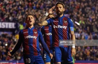 Jose Luis Morales celebrates a goal for Levante (Getty Images)