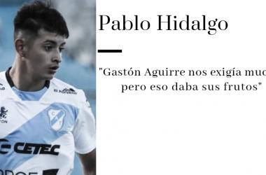 """Pablo Hidalgo: """" El equipo está bien y yo me siento muy cómodo"""""""