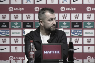 Imagen de Diego Martínez en la rueda de prensa.