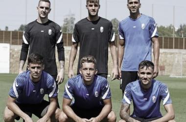 Imagen de los seis canteranos. Foto: Pepe Villoslada / Granada CF.