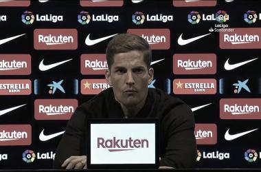 Robert Moreno durante la rueda de prensa . Foto: Capatura Youtube.