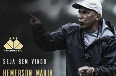 Hemerson Maria é o novo treinador do Criciúma