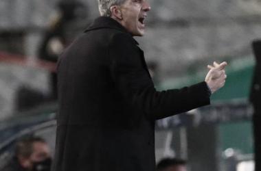 Imanol Alguacil durante el duelo / Foto: Real Sociedad.