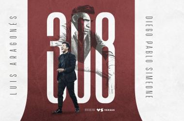 Diego Pablo Simeone igualó a Luis Aragonés como el técnico con más victorias en el equipo rojiblanco. / Twitter: Atlético de Madrid oficial