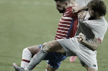 Imagen del partido de ida entre el Granada y el Athletic. Foto: Pepe Villoslada/Granada CF