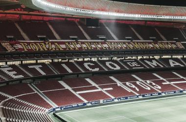 La hinchada del Atlético mostrará su apoyo en este complicado duelo./Twitter: Frente Atlético oficial