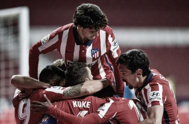 La ultima visita del Athletic al Wanda se saldó con victoria colchonera. / Twitter: Atlético de Madrid oficial
