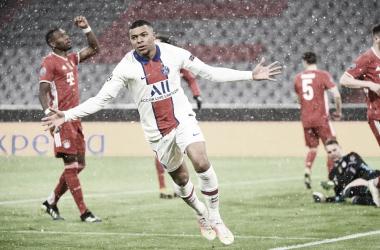 Kylian Mbappé marcó un doblete y fue clave en la victoria francesa. / Twitter: Liga de Campeones oficial