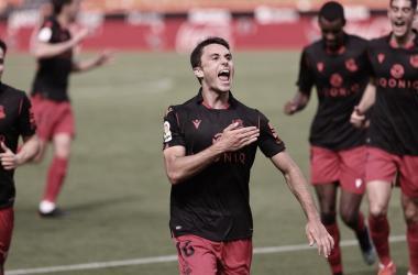 Guevara celebra su estreno goleador en Primera / Foto: Real Sociedad.