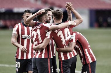 El conjunto rojiblanco consiguió su segunda victoria consecutiva./Twitter: Atlético de Madrid oficial