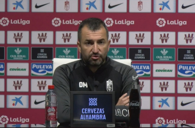 Diego Martínez en rueda de prensa.