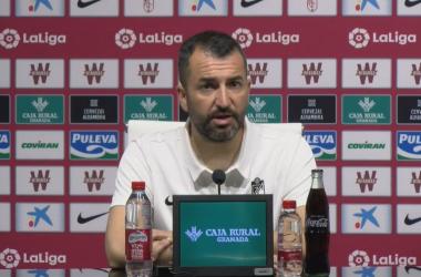 Diego Martínez en rueda de prensa