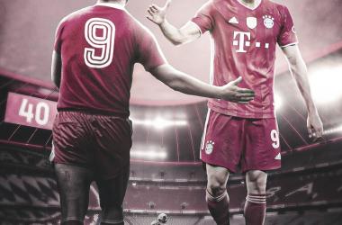 Lewandowski alcanzó el récord del mítico Gerd Müller./Twitter: Bayern Múnich oficial