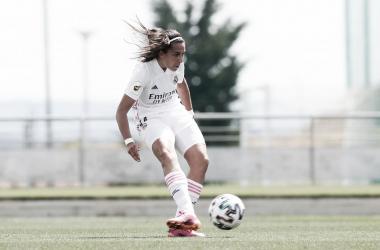 Cardona define para establecer el 1-0. Fuente: Real Madrid