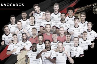 Los 26 convocados deLöw. /Twitter: Selección Alemana oficial
