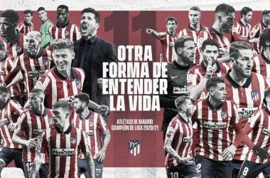 Atlético de Madrid, campeón de la temporada 20/21. /Twitter: Atlético de Madrid oficial