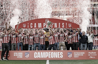 El Atlético de Madrid levantó su onceavo trofeo de LaLiga./ Twitter: Atlético de Madrid oficial