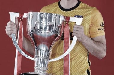 Jan Oblak consiguió su primer título de LaLiga con el Atleti. /Twitter: Atlético de Madrid oficial