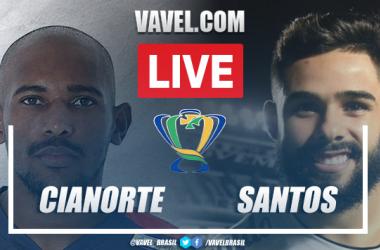 Gols e melhores momentos Cianorte x Santos pela Copa do Brasil (0-2)