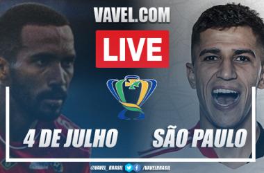 Gols e melhores momentos 4 de Julho x São Paulo pela Copa do Brasil 2021 (3-2)