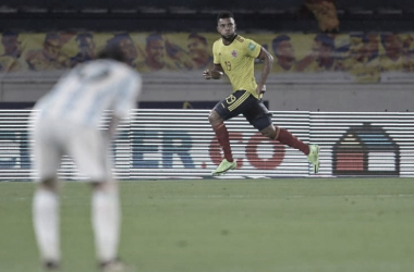 Borja marca no último minuto, e Colômbia arranca empate com Argentina