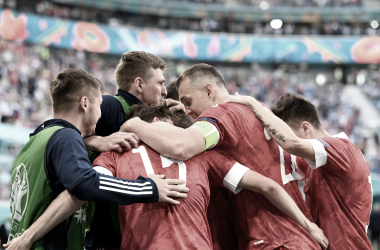 Rusia consiguió sus primeros tres puntos del torneo. / Twitter: UEFA Euro2020 oficial