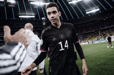 Jamal Musiala, pieza clave en el último duelo de la selección alemana. / Twitter: Selección Alemana oficial