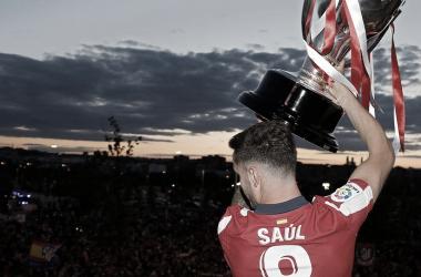 Saúl viene de conquistar el trofeo de LaLiga. / Twitter: Saúl Ñíguez oficial