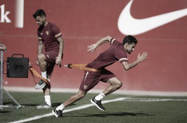El club entrenando en la ciudad deportiva || Foto: Sevilla FC