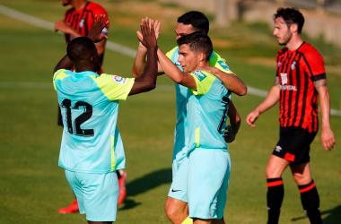Soro marca el primer gol del Granada CF en pretemporada/ Foto: Pepe Villoslada/ GCF