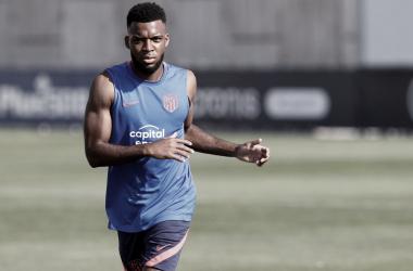 Tanto Lemar como Vrsaljko se integraron a los entrenamientos en Cerro del Espino. / Twitter: Atlético de Madrid oficial