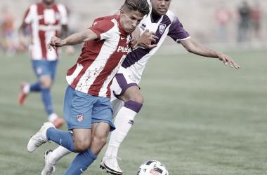 Giuliano Simeone jugó 71 minutos en su debut con el equipo colchonero. / Twitter: Giuliano Simeone oficial