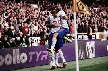 À espera de Cristiano Ronaldo, Manchester United arranca vitória contra Wolves