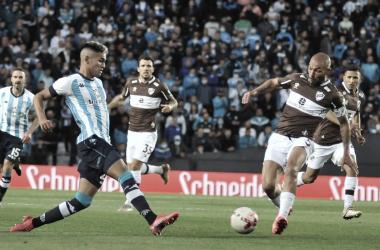 Racing 0-1 Platense.<div>Fuente: web.</div>