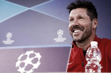 Diego Pablo Simeone en rueda de prensa /Twitter Oficial Atlético de Madrid