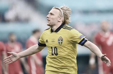Fosrberg anotó un doblete ante Polonia en San Petersburgo | Fotografía: UEFA