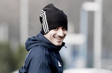 Saúl Berjón durante un entrenamiento en El Requexón esta temporada. Imagen; Vavel.com