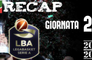 Legabasket: risultati e tabellini della 21esima giornata